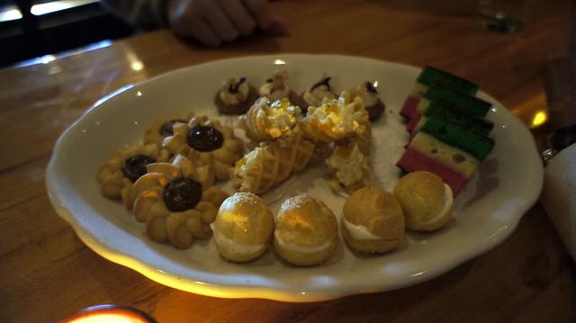 dessert plate at torrisi