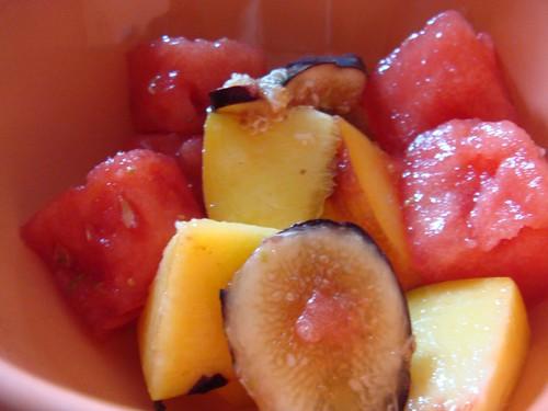 Fig Peach Watermelon Salad