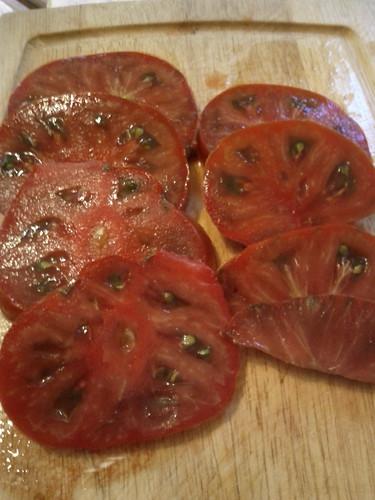 Cherokee Purple (Yes that's one tomato!)