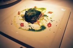 Il Filetto di Salmone in Foglia di Lattuga al Vapore con Verdurine (Steamed Salmon Filet Wrapped in Lettuce Leaves Served with Seasonal Vegetables)