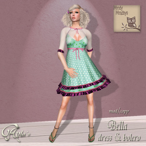 Bella dress + bolero Aqua vendor MM