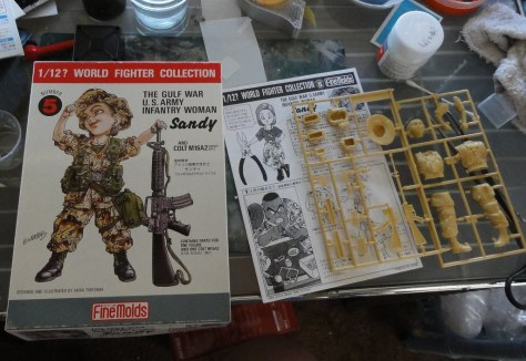 world fighter collection Sandy アメリカ陸軍女性兵士 サンディ