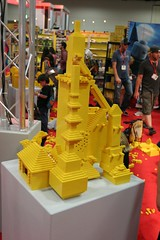 User created models at the LEGO booth - San Diego Comic Con - 2