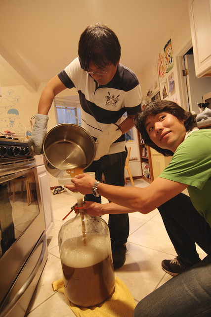Making beer with Yogo and Tokuhara