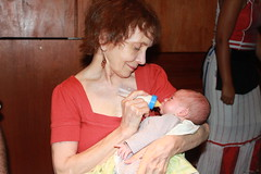 Sagan - Day Twenty-Five - Grandma Feeds Sagan