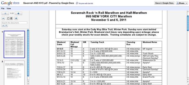 Marathon Plan