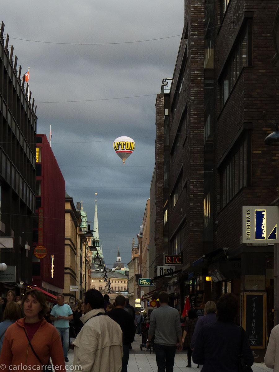 Globo aerostático desde Drottninggatan