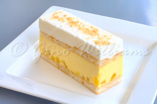 Mango Mousse with Pineapple and Coconut