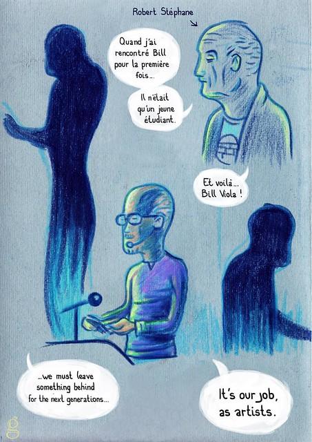 Rencontre avec Bill Viola (page1) - BD de Gilderic