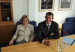 Edwin Poots with Scottish Health Minister