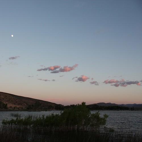 Sunset over Pahranagat National Wildlife Refuge