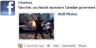 Clueless Facebook update
