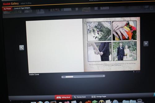wedding page kodak book layout