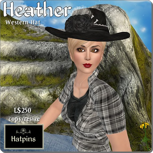 Hatpins - Heather Western Hat
