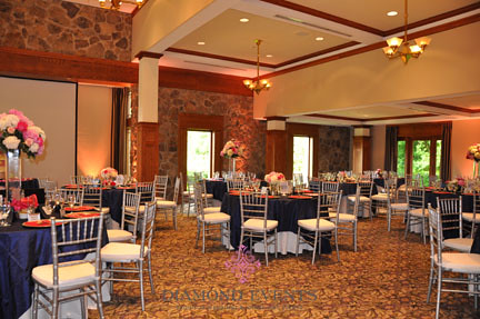 Virginia Tech German Club Manor set for a wedding reception