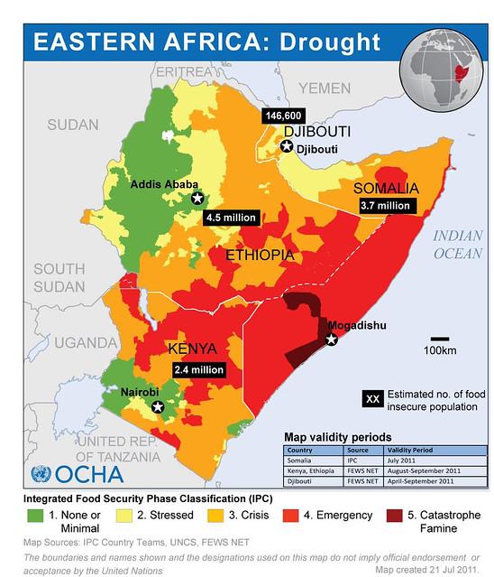 Eastern Africa drought in Jul 2011