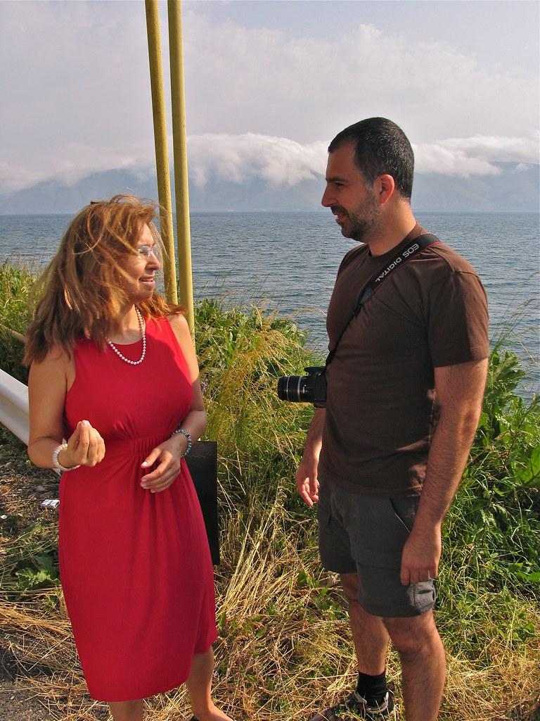 Tante Léna et moi, Lac Sevan, Arménie