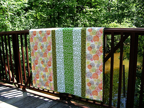Back of the scrappy greens quilt