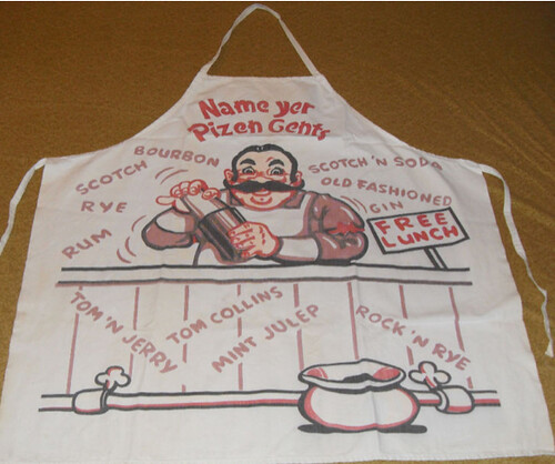 1950s Free Lunch Apron