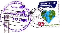 stamp netherlands lavender fields