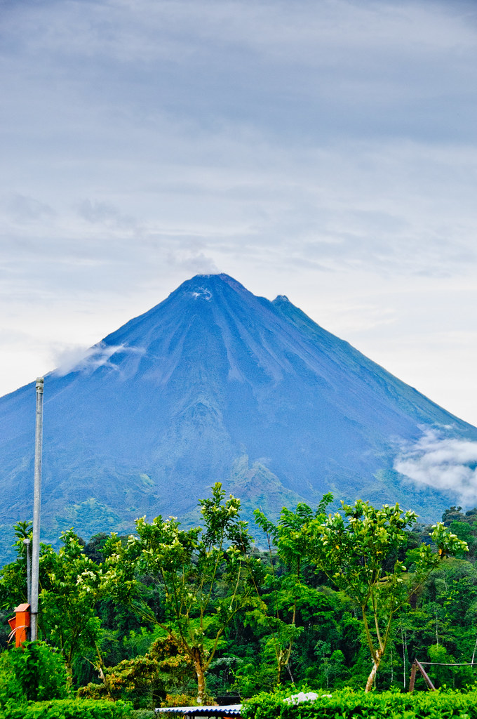 Arenal volcano from Charlie's Farm