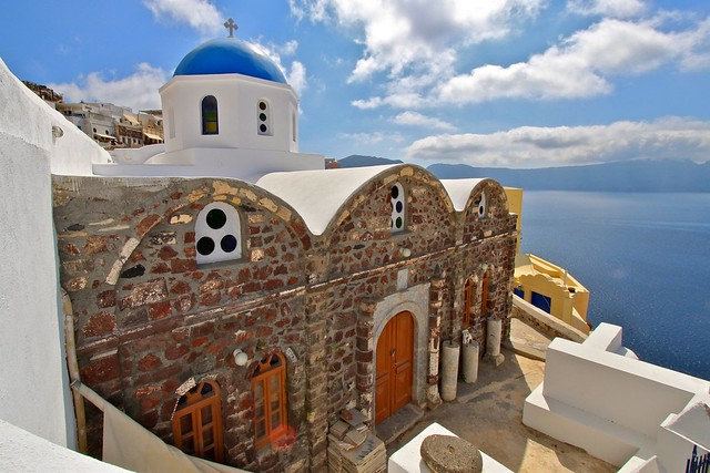 Église de Oia, Santorin, Grèce