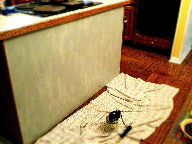 Primed Kitchen Island (iPhone Pic)