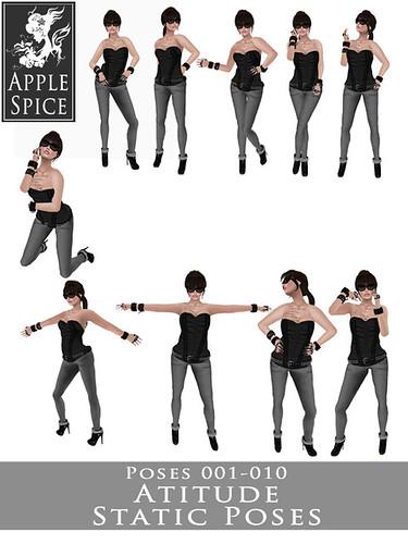 Apple Spice - Attitude Static Poses 001-010