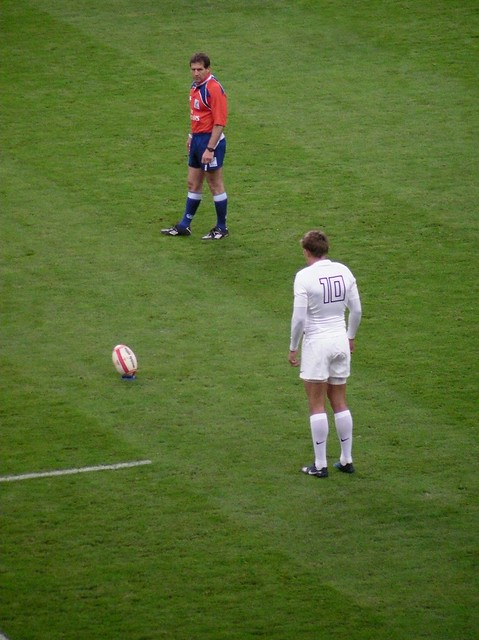Wales v England RWC Warmup game-Toby Flood penalty kick