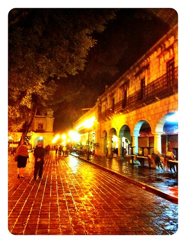 Oaxaca at night