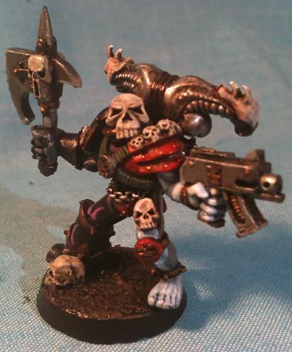 WE Assault Trooper painted as Nefarious Fire Bezerker
