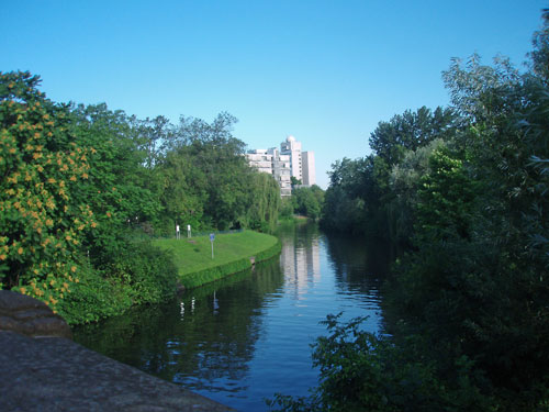The Landwehrkanal in Charlottenburg, Berlin