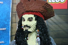 LEGO Captain Sparrow Statue at the LEGO booth - San Diego Comic Con - 2