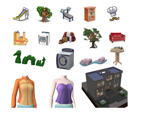 The Game Icons of Town Life