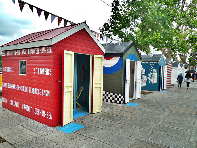 The Thames beach huts
