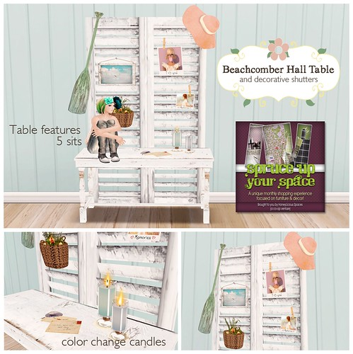 Beachcomber Hall Table & Decorative Shutters