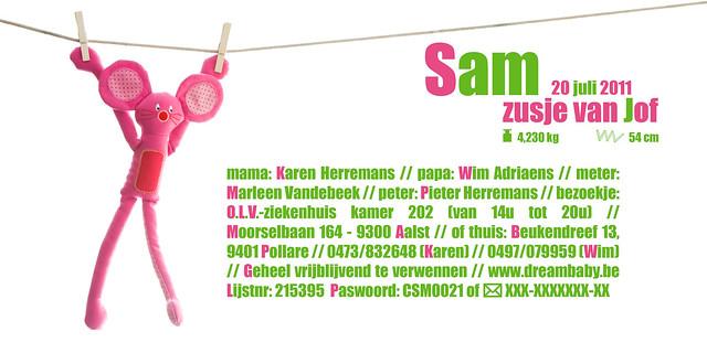 kaartje Sam'