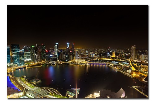 The Singapore Skyline from the Marina Bay Sands (MBS) by Dad Bear