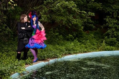 Emily & Kyle by a pond
