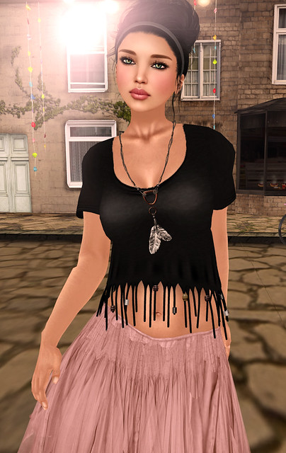 Fringe Top (with Beads)