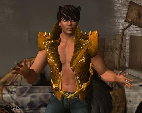 CHAMPAGNE  -  Gold Jacket Vest (2)