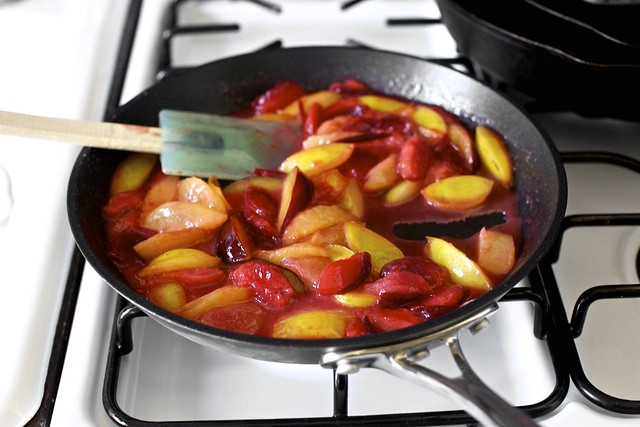 briefly sauteed plums