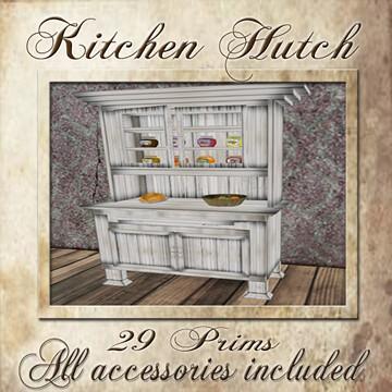 The Strawberry Box, Kitchen Hutch, 50L$