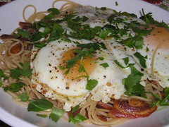 pasta and egg