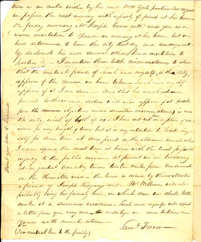 Letter from Samuel Forrer to Horton Howard, Feb. 13, 1826, Page 2 of 2