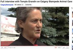 Temple Grandin at Calgary Stampede, 2011