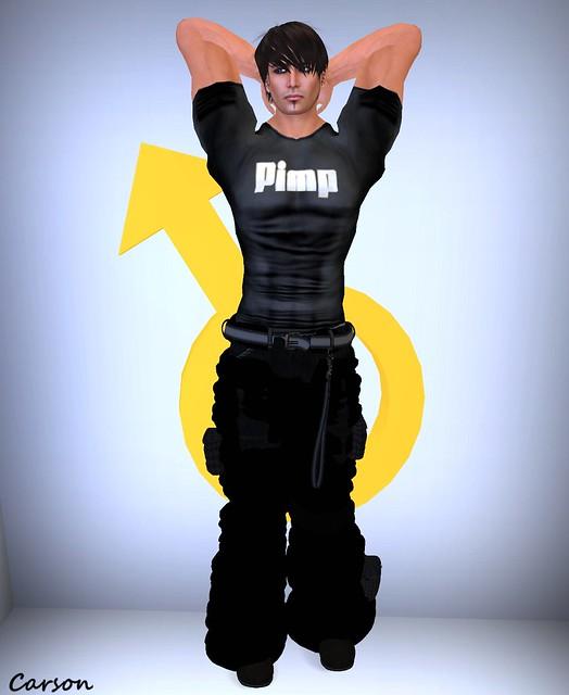 Karmas Kreations - Pimp Shirt and Black Baggy Pants