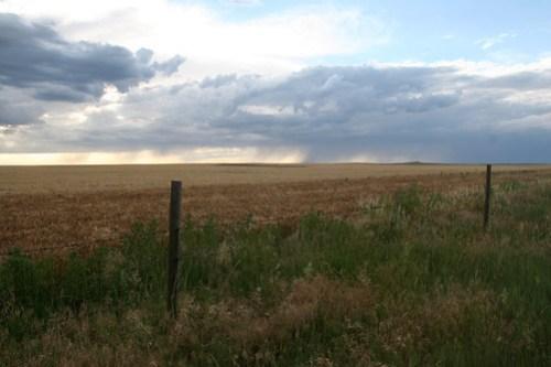 Rain on the horizon.