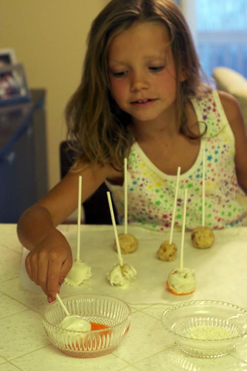 Olivia rolling sugar