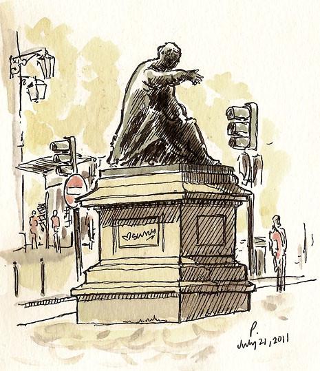 chiado statue